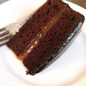 Fetta di torta Sacher