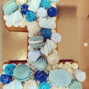 Torta Cream tart a forma di numero (singolo)